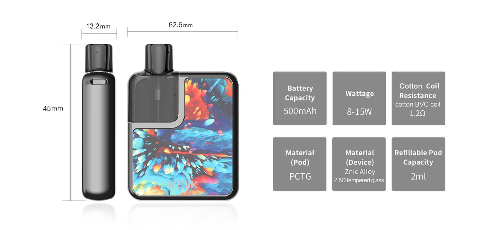 VEIIK refillable pod systems distributor for e cig market